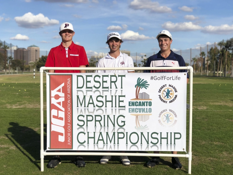 Championship (left to right) Ryan Macpherson, Cam Sandland, Kohl Kuebler