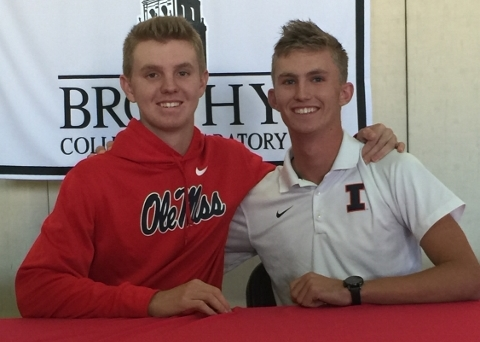 Chip Getz (left) - Ole Miss; Michael Feagles (right) - University of Illinois