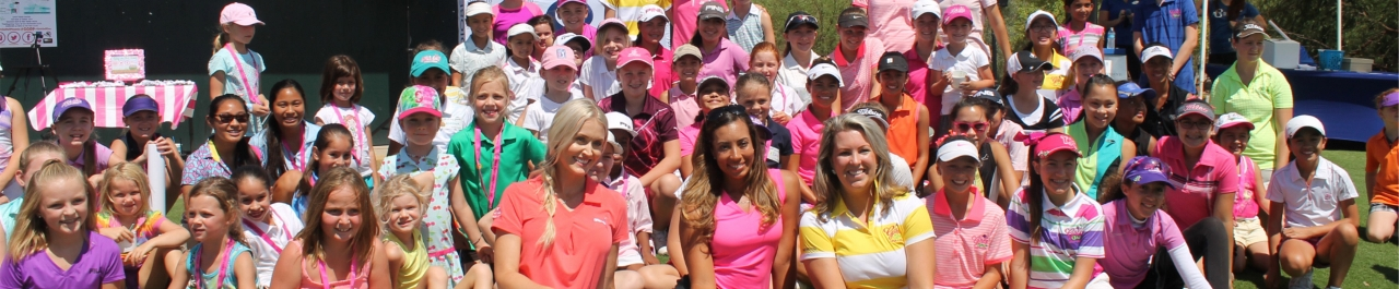 Local LPGA ambassadors, Blair O'Neil and Cheyenne Woods, participated in last year's Girl's Golf Day.