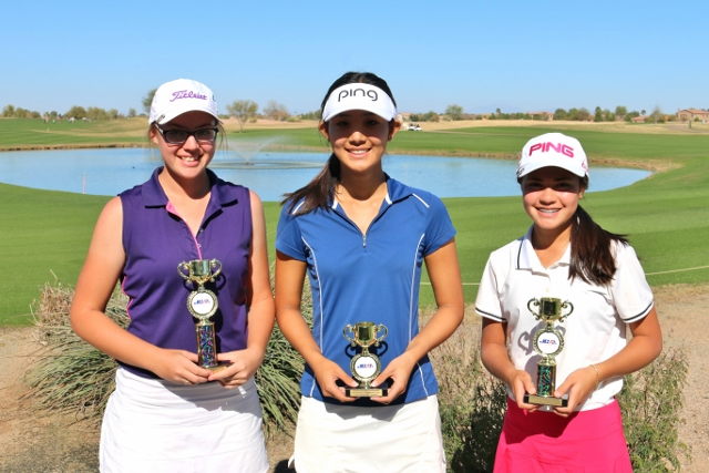 (left to right) 1st - Emily Mahar, 3rd - Kelly Su, 2nd - Ashley Menne