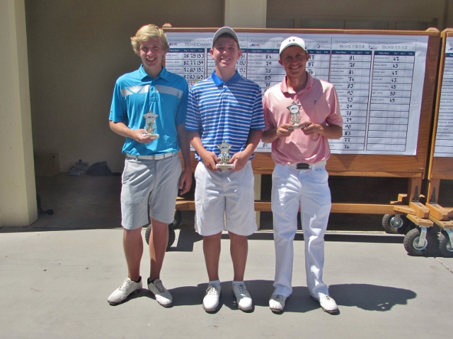 (left to right) Tyler Svendson-3rd, Jacob Goode-2nd, Jonathan Walters-1st