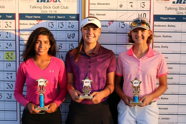 Girls 15-18(left to right): Sarah Hameed, Brooke Beyer, Belle Balkan