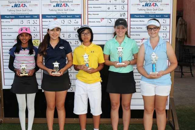Girls 13-14(left to right): Sneha Yadav, Toni St. John, Millburn Ho, Kendall Todd, Madeleine Laux
