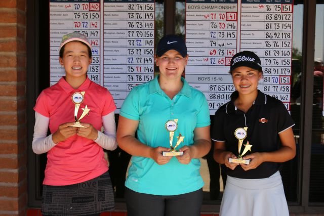 (left to right) Jenny Bae (3rd), Jessica Williams (2nd), Ashley Menne (1st)