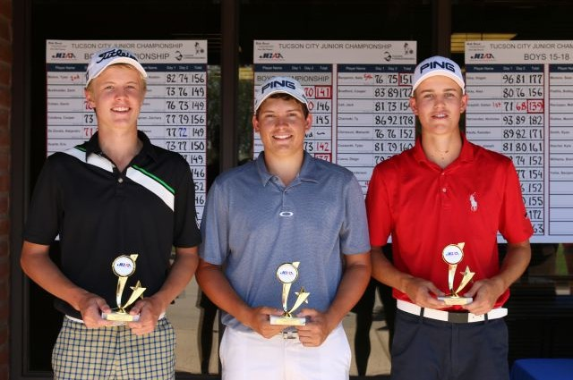 (left to right) Matthew Schwab (3rd), Tyler Blohm (2nd), Trevor Werbylo (1st)
