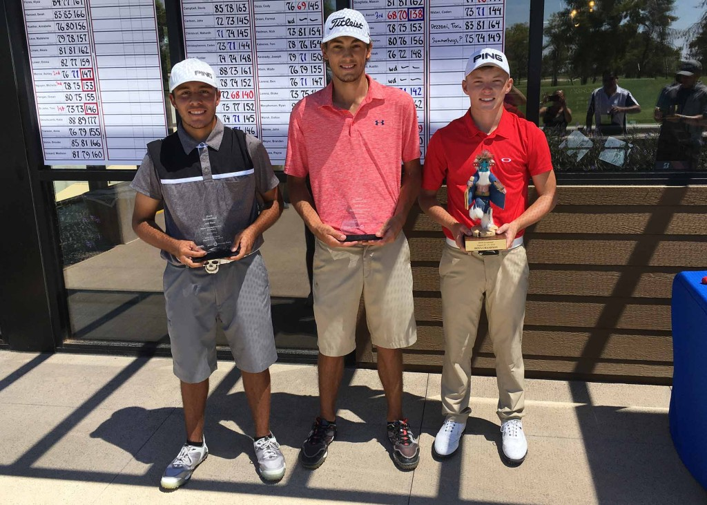 (left to right) Aaron Ramos, Brock Goyen & Davis Evans.