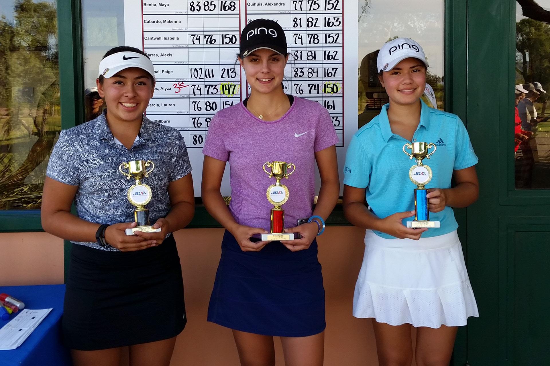 left to right: Alyza Flores, Breyana Matthews, Ashley Menne